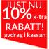 Just NU! 10% x-tra RABATT