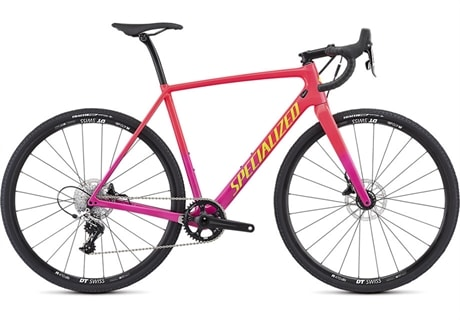 Specialized Cykel, CruX Carbon Elite 2019, Gloss Acid Pink/Acid Purple/Team Yellow/Clean
