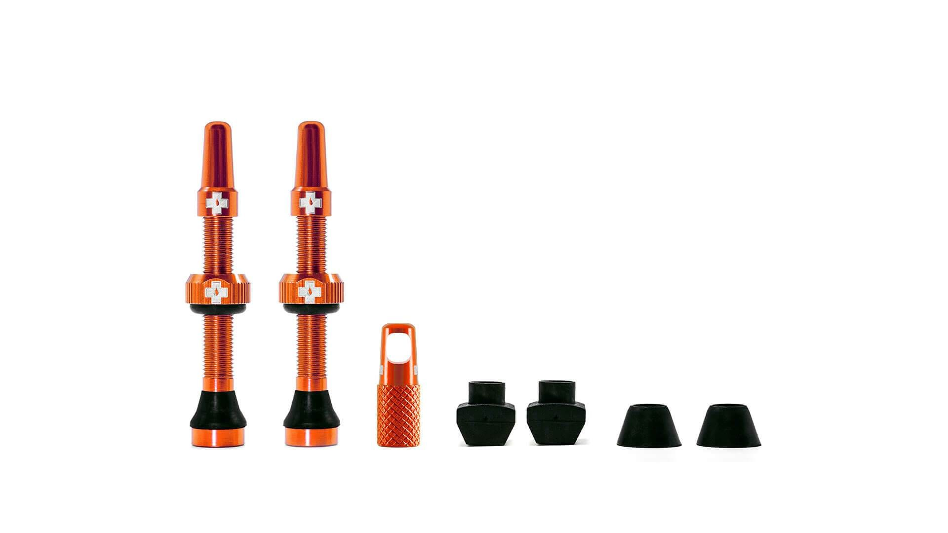 Muc-Off Ventil, Tubeless Valve Kit, Orange