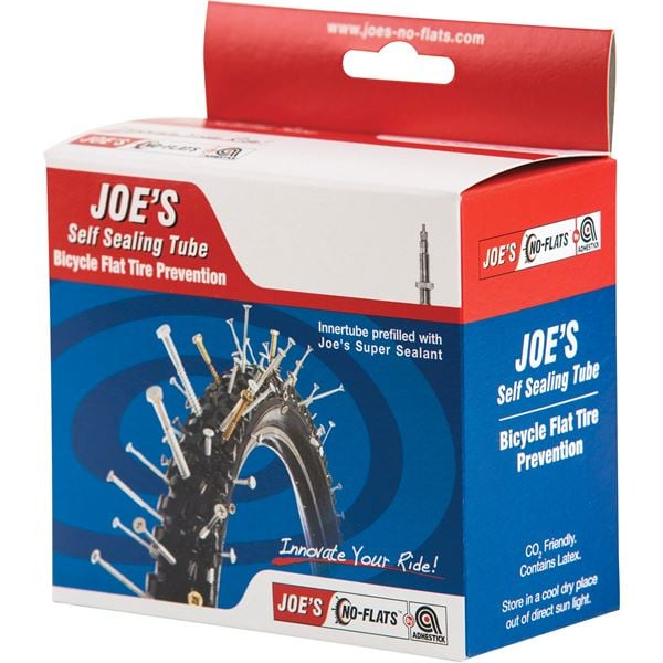 Joe's No-Flats Slang, MTB Self Sealing Tube 26x1.75-2.125, Presta