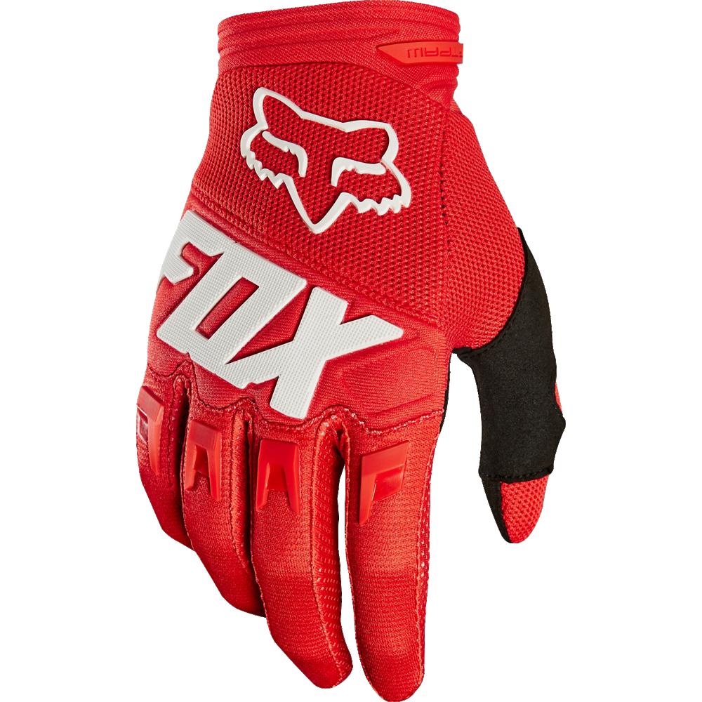 Fox Handske, Youth Dirtpaw Race, Röd