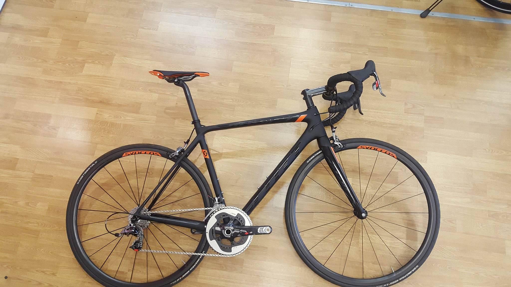 Scott Cykel, Addict SL 2015, Svart/Orange
