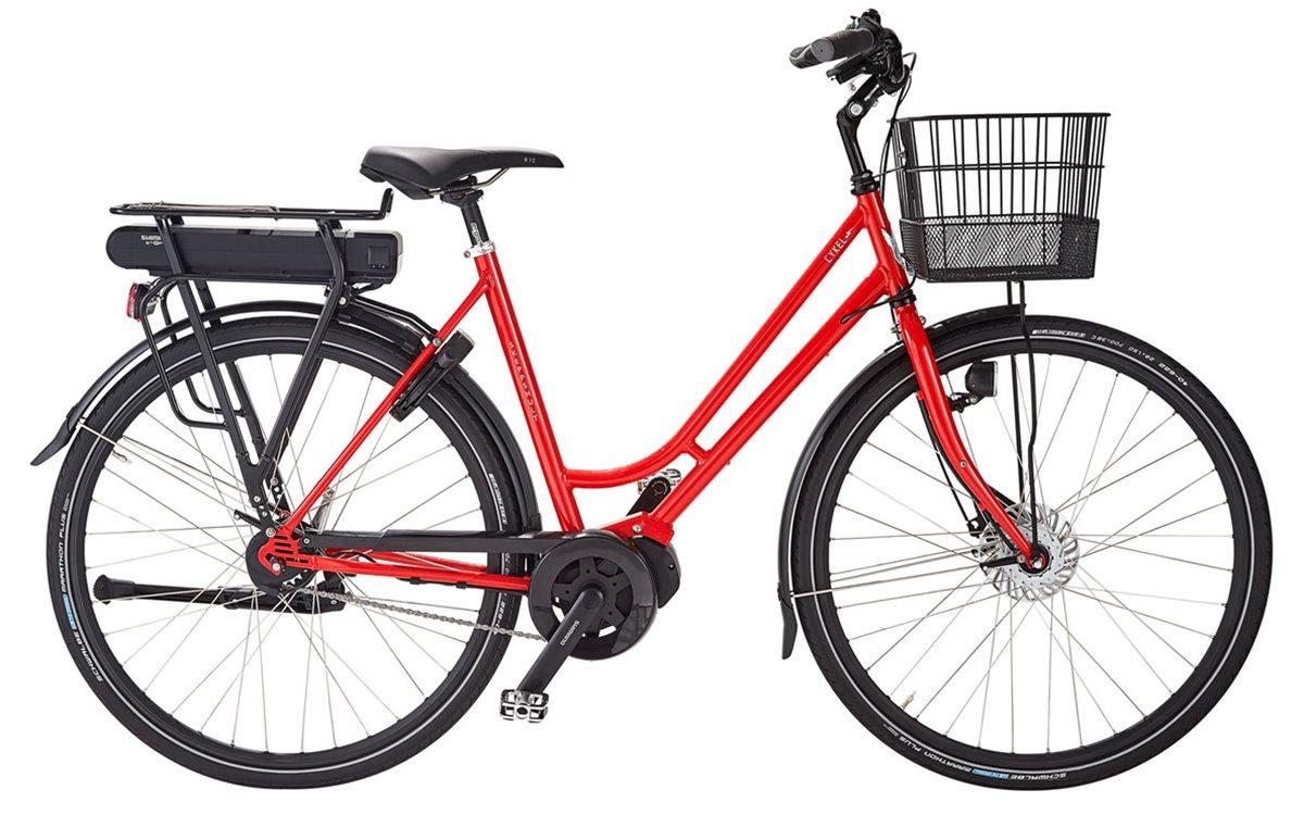 Skeppshult Cykel, cykEL 8 2018, Innerligt Röd Mettalic