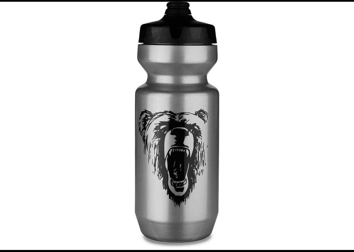 Specialized Flaska, Purist Fixy Water Bottle - California Bear, Silver/Black