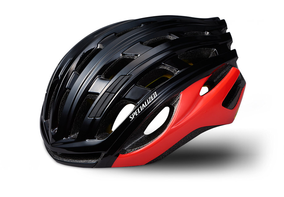 Specialized Hjälm, Propero III w/ ANGi, Black/Rocket Red