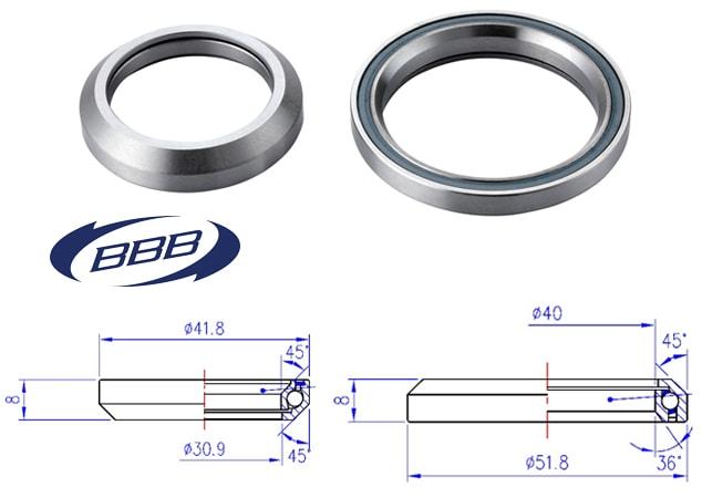 BBB Styrlager, BHP-95 Drop In lager, Taper 41.8/52 RF