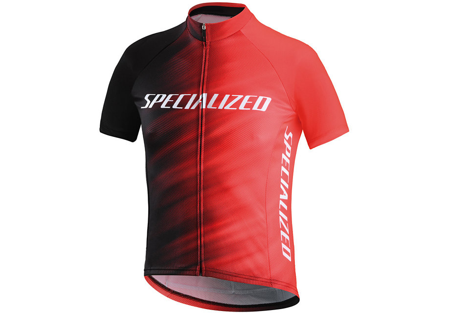 Specialized Tröja, RBX Comp Logo Faze Youth SS, Rocket Red/Black Faze