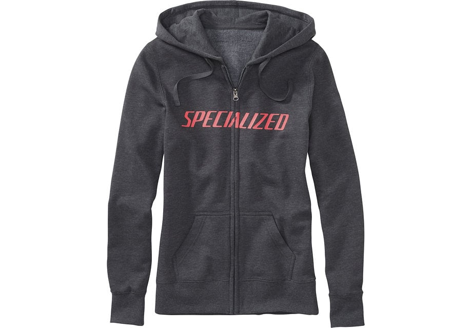 Specialized Tröja, Podium Hoodie Women, Carbon/Acid Red