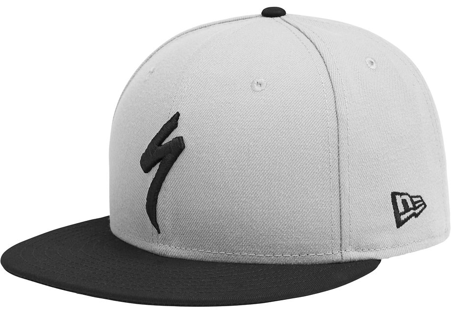 Specialized Keps, New Era 9Fifty Snapback Hat, Light Grey/Black