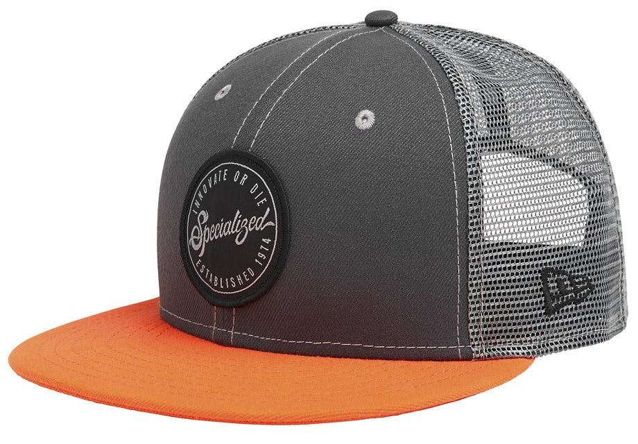 Specialized Keps, New Era Flat Brim Hat, Slate/Red Dirt/Black