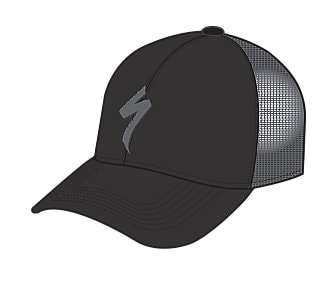 Specialized Keps, Trucker Hat, Black/Charcoal