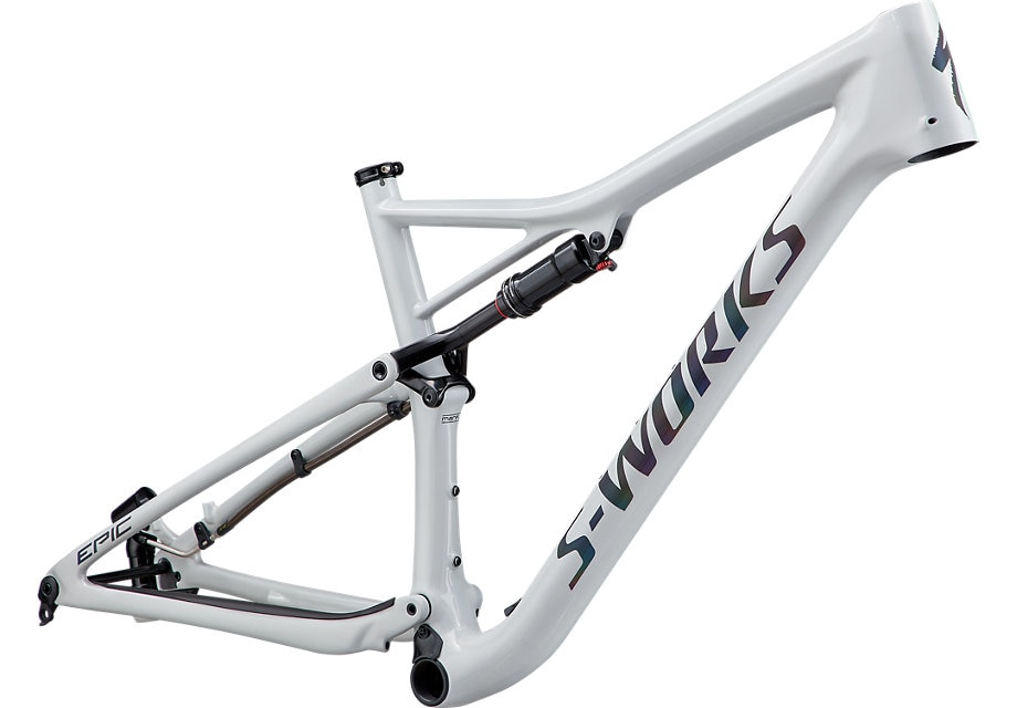 Specialized Ram, Epic S-Works 2020, Gloss White Prismaflair/Black Holographic Reflective