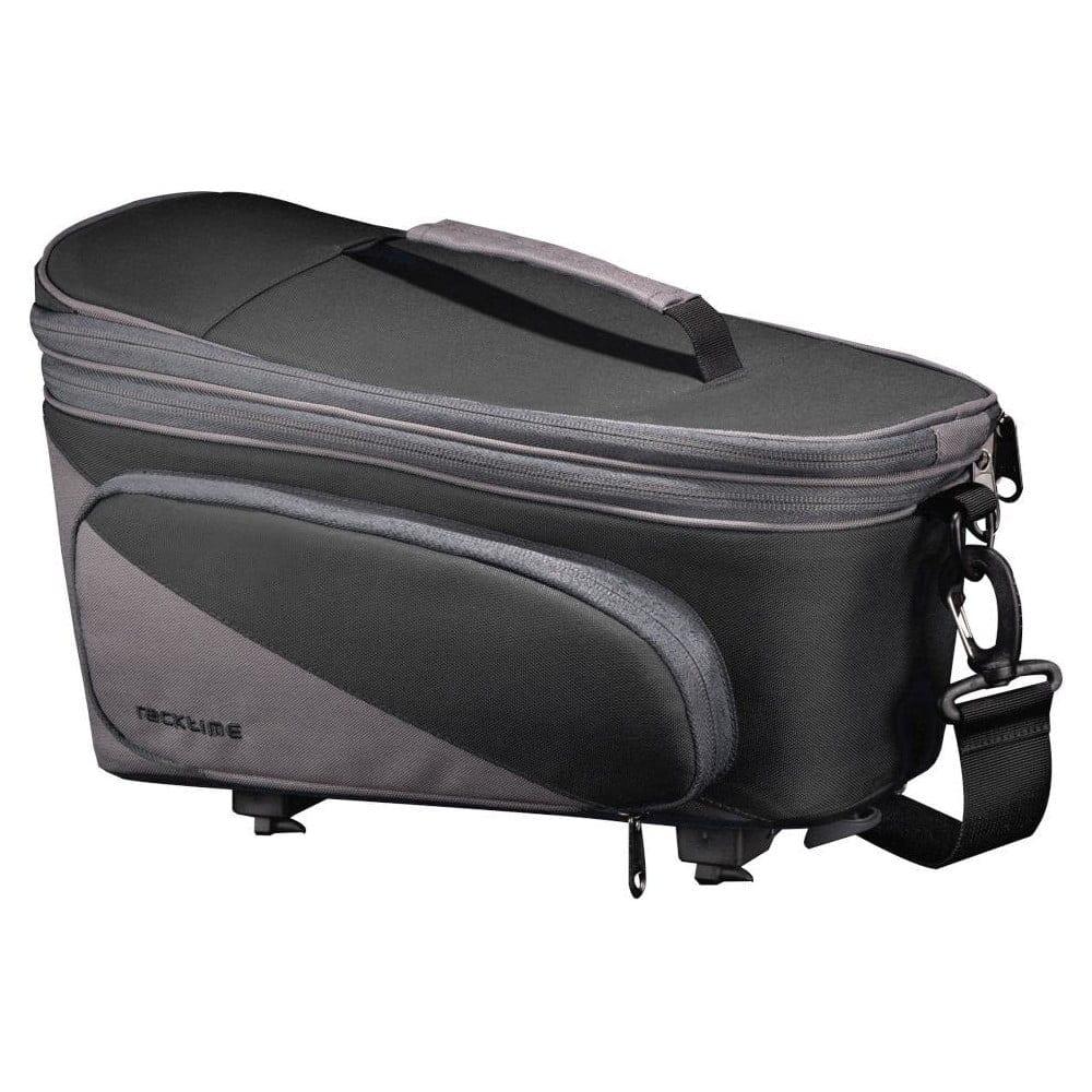 Racktime Pakethållarväska, Talis Plus, Carbon Black/Stone Grey