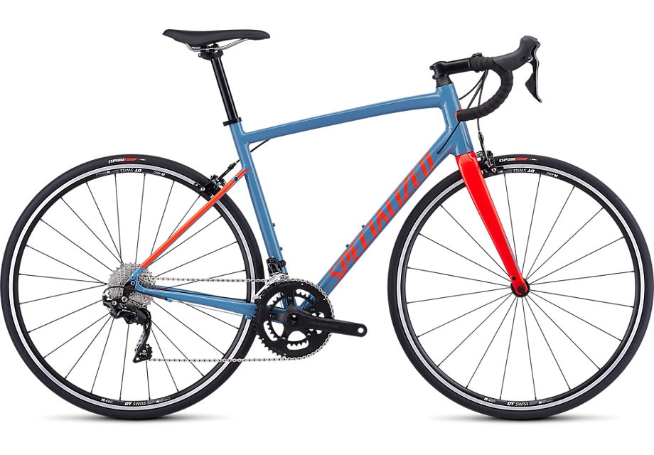 Specialized Cykel, Allez Elite 2019, Gloss Storm Gray/Rocket Red