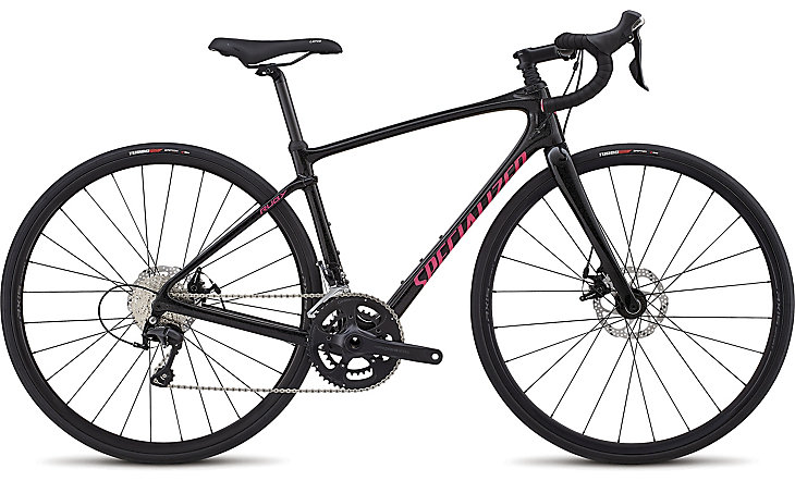 Specialized Cykel, Ruby Sport 2018, Gloss/Cosmic Flake Black/Slate/Acid Pink
