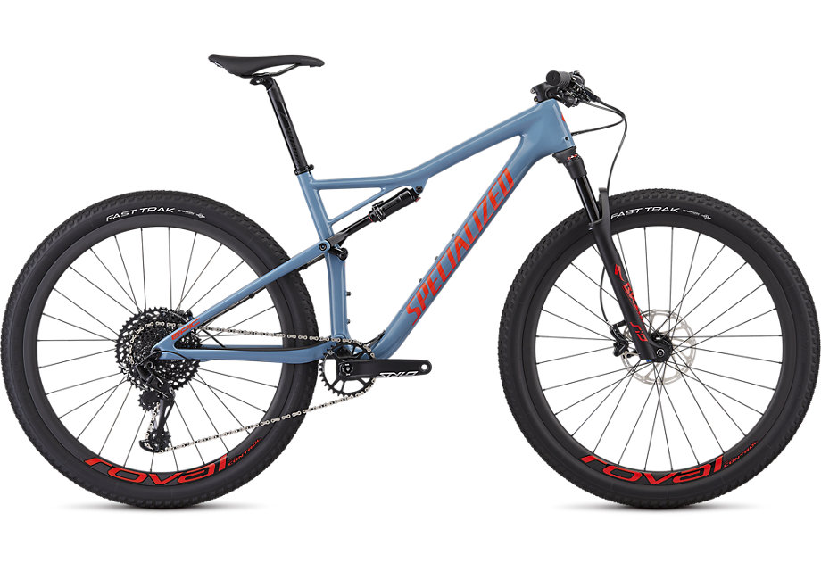 Specialized Cykel, Epic Expert 2019, Gloss Storm Grey/Rocket Red