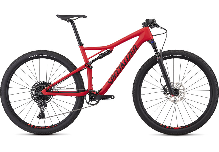 Specialized Cykel, Epic Comp Carbon 2019, Satin Flo Red/Black