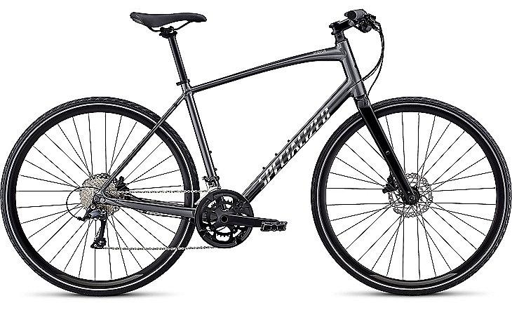 Specialized Cykel, Sirrus Sport Alloy Disc 2019, Black Chrome/Chrome