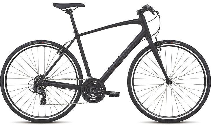 Specialized Cykel, Sirrus Alloy 2019, Black/Gloss Black/Black Reflective