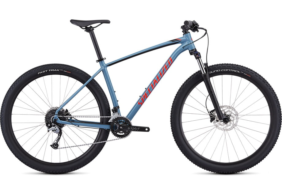 Specialized Cykel, Rockhopper Comp 2019, Gloss Storm Grey/Rocket Red/Tarmac Black
