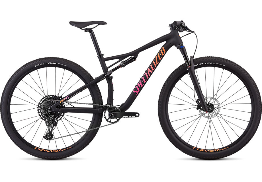 Specialized Cykel, Epic Comp 2019, Satin Gloss Black/Acid Lava/Acid Purple
