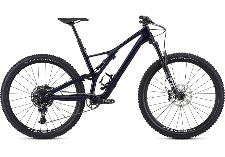 Specialized Cykel, Stumpjumper ST Comp Carbon 29 – 12-speed 2019, Gloss Blue Tint Carbon/White