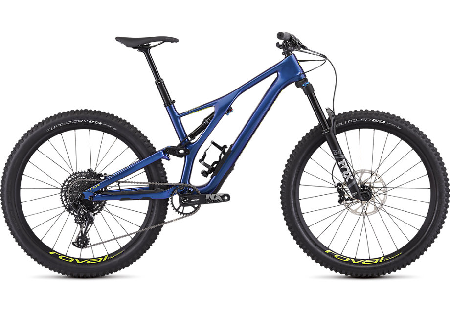 Specialized Cykel, Stumpjumper Comp Carbon 27.5—12-speed 2019, Gloss Chameleon/Hyper