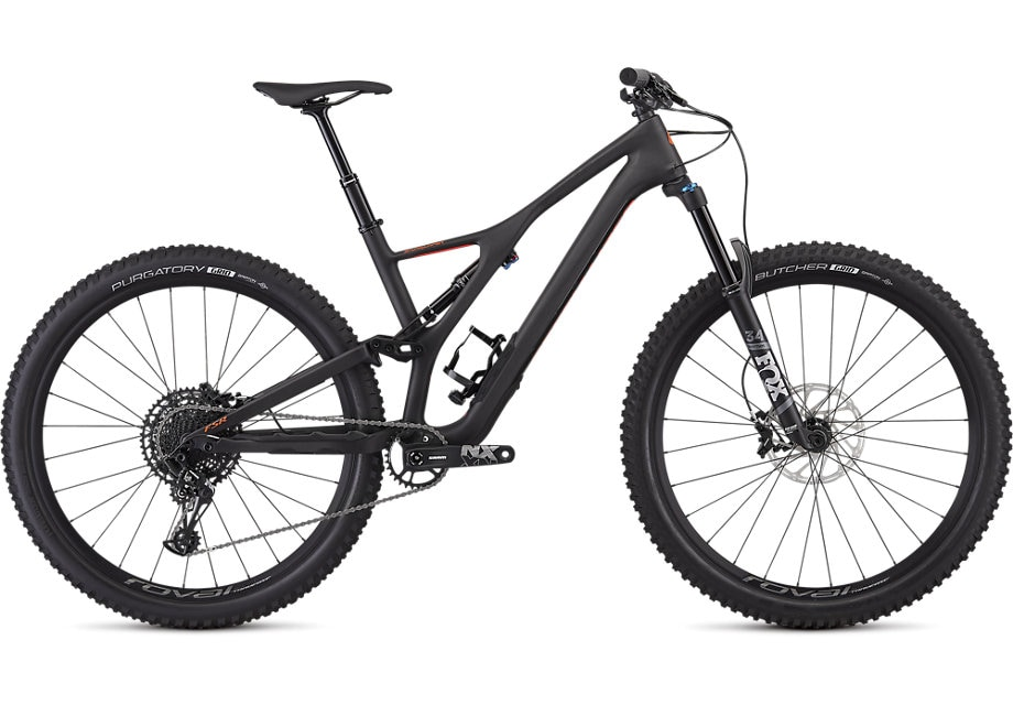 Specialized Cykel, Stumpjumper Comp Carbon 29 2020, SATIN CARBON / ROCKET RED