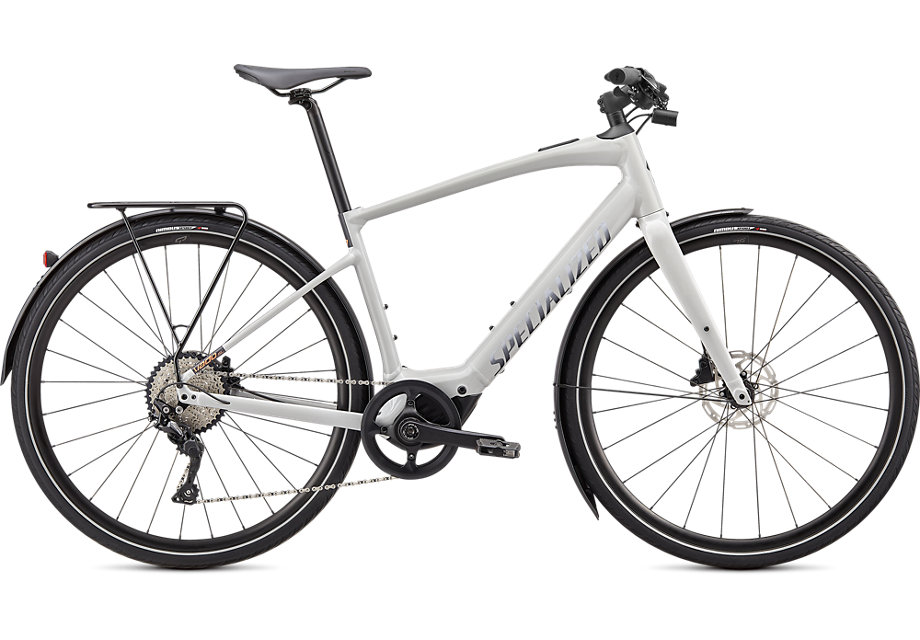 Specialized Cykel, Turbo Vado SL 4.0 2020, Dove Gray / Acid Lava / Cast Black Reflective