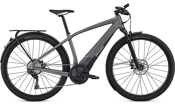 Specialized Cykel, Turbo Vado 6.0 (45km/h) 2019, Gloss Charcoal/Black/Chrome