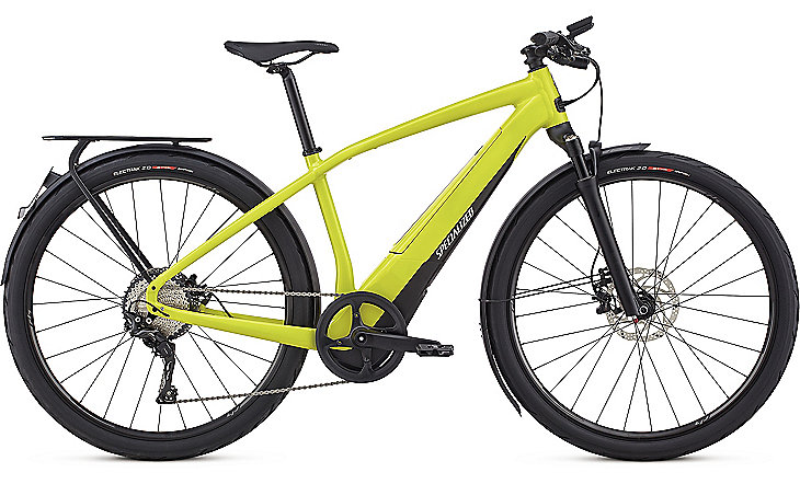Specialized Cykel, Turbo Vado 6.0 (45km/h) 2018, Satin Limon/Black/Chrome