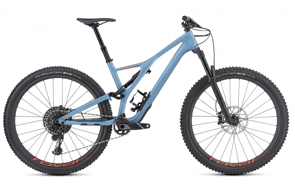 Specialized Cykel, Stumpjumper Expert 29 2019, Gloss/Storm Grey/Rocket Red