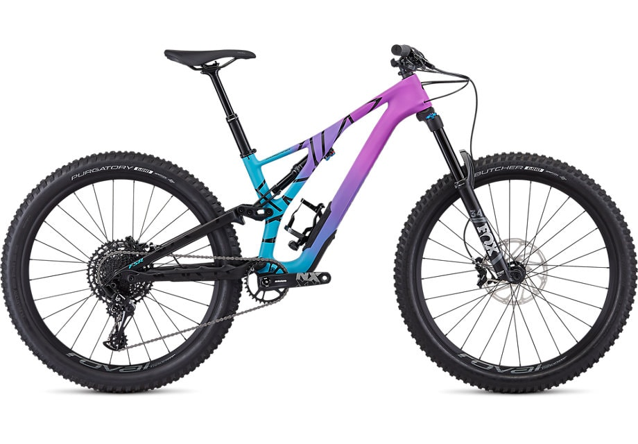 Specialized Cykel, Stumpjumper Comp Carbon 27.5—12-speed 2019, Satin Gloss / Mixtape