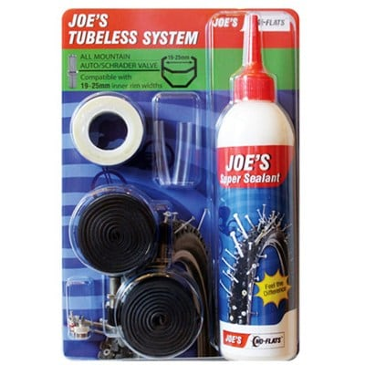 """Joe's Slanglöst-kit, Tubeless Kit 26-29"""" Presta, Diverse Breddalternativ"""