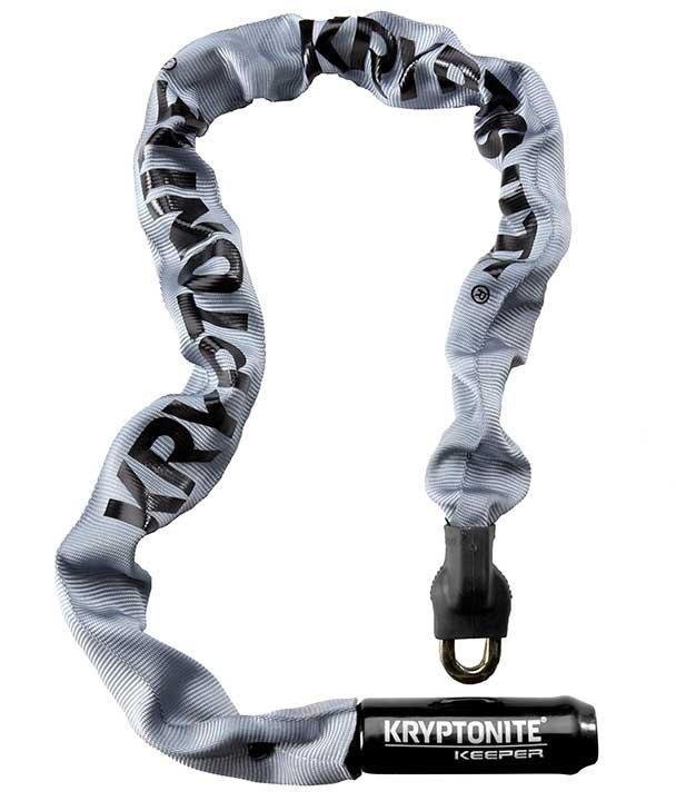 Kryptonite Kättinglås, Keeper 785 Integrated Chain 7mmx85cm, Grey