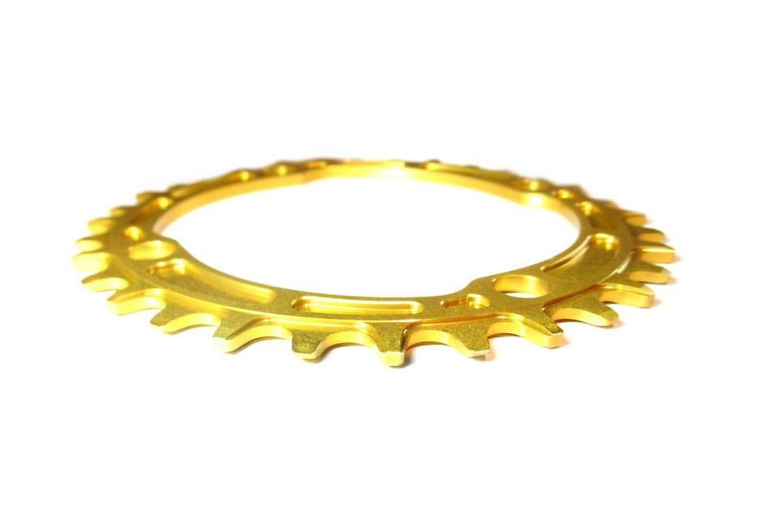 Works Components Drev, 104BCD Alu, Guld