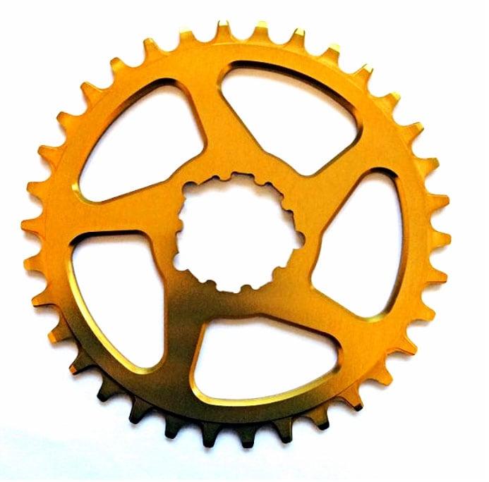 Works Components Drev, Direct Mount GXP (3mm/Boost) Alu, Guld