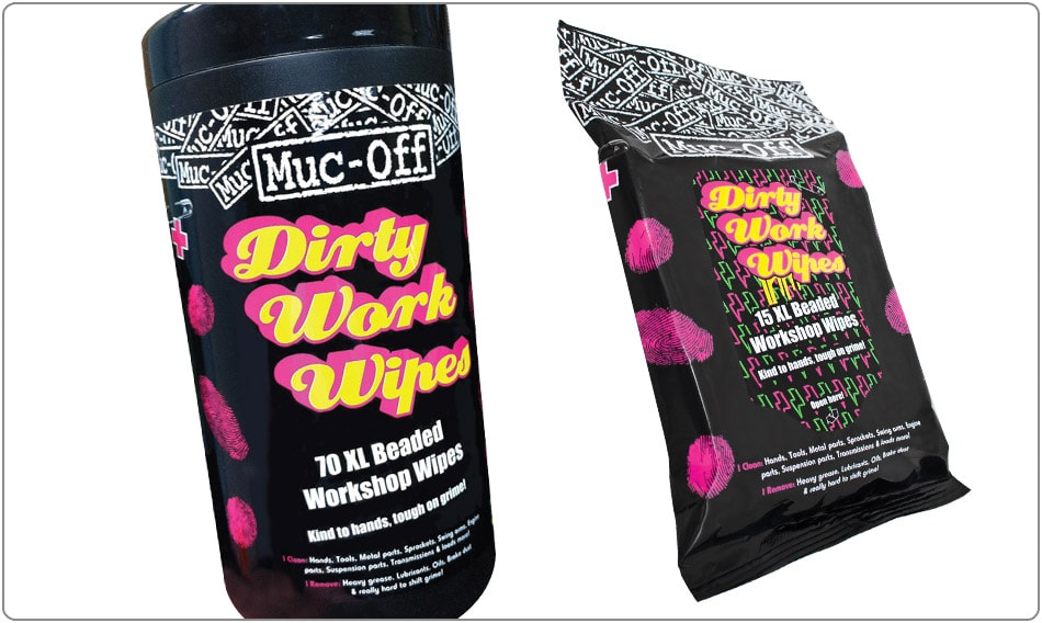 Muc-Off Rengöring, Dirty Work Wipes, 15 pack